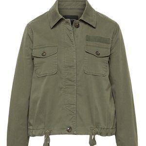 Petite Cropped Utility Shirt Jacket